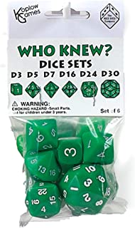 Green Special Who Knew 6 Dice Set