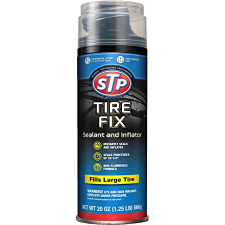 STP Car Tire Inflator and Sealant - for Cars & Truck & Motorcycle Wheels, 19061
