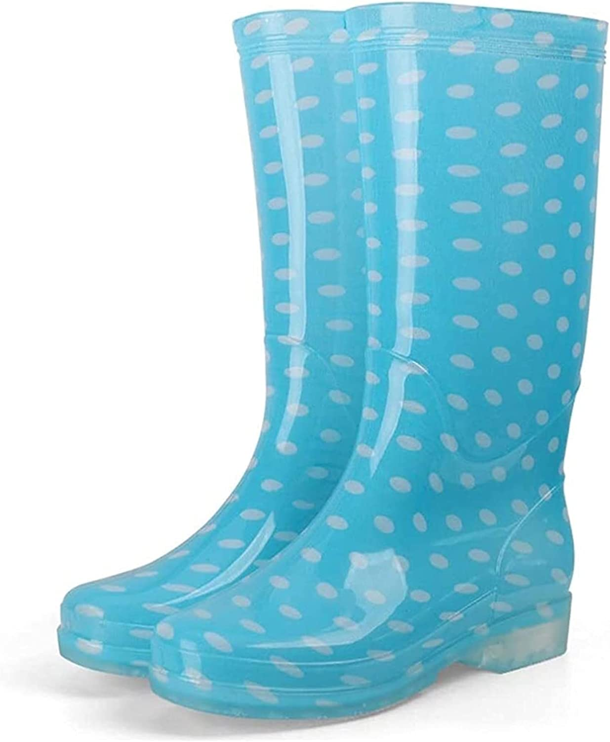YUESFZ rain Boots Women's Choice Spring new work one after another Candy-Colored No Waterproof Rain