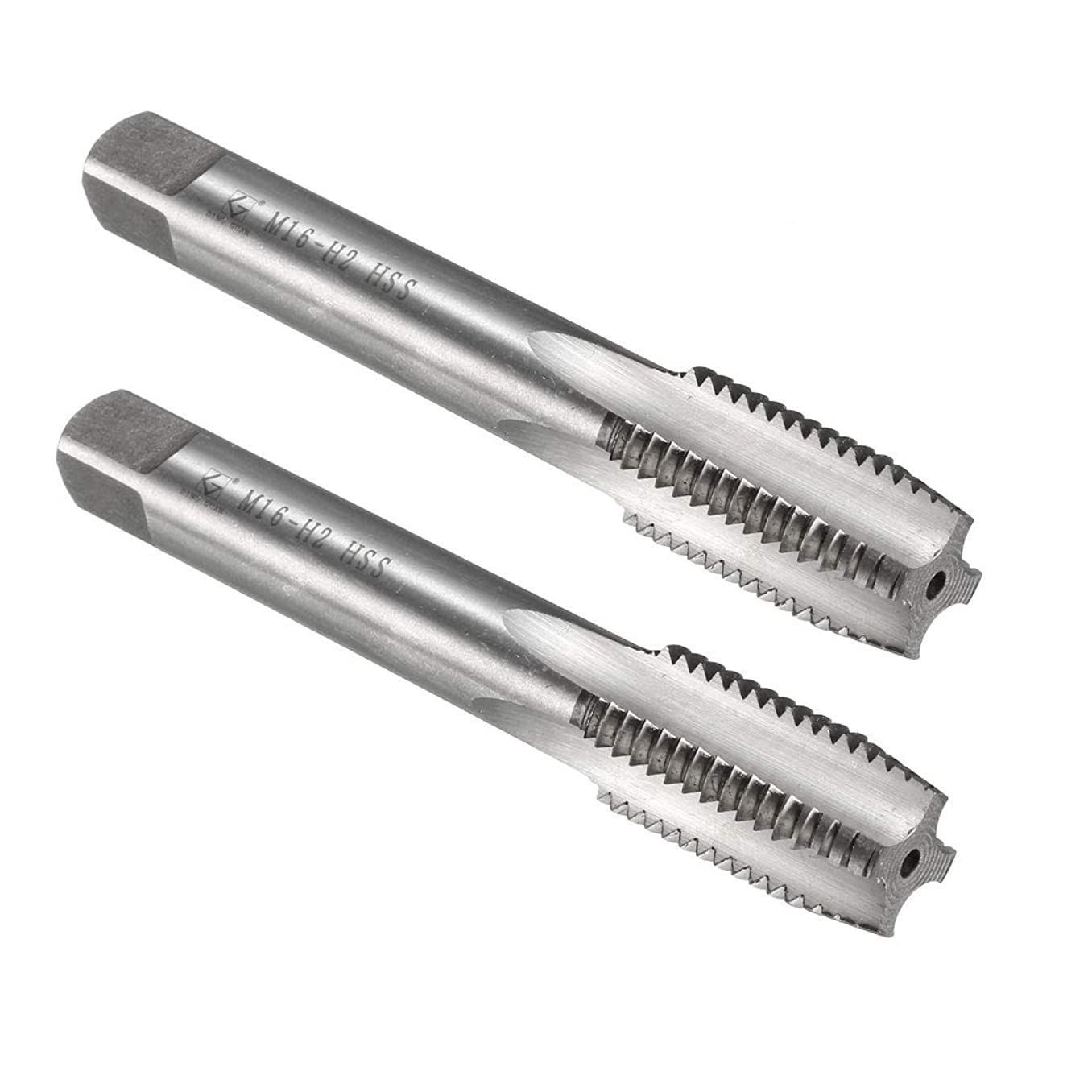 uxcell Metric Tap M16 x 2mm Pitch H2 Right Hand Thread Plug HSS for Threading Machine Electric Drill DIY 2pc