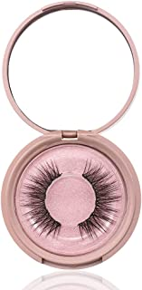 Handmade Fake Lashes,Women's Full Coverage Wispy Fluffy Waterproof Natural Long Black No Glue Need Magnetic Liquid Eyeliner False Eyelashes(Diamond-5)