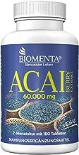 BIOMENTA ACAI PURE 60.000 mg   180 vegana Acai Pastillas  