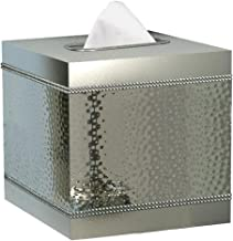 Nu Steel Boutique Cover, parte de nuestro juego de accesorios Hudson de alta calidad, cuadrado, caja de pañuelos faciales ...