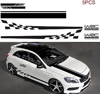 Etiqueta del vinilo negro coche de venta pegatinas Racing Sport Estilo insignia de cuerpo auto adhesivo