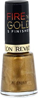 Revlon Womens Fire 'N' Gold 5 Finishes Nail Enamel, Gold Metal, 8 ml