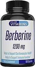 Berberine 1200mg 180 Capsules (Non GMO, Gluten Free, Vegetarian) Berberine Supplement for Supporting Immune, Cardiovascular Function, and Blood Sugar