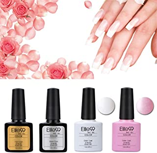 Elite99 Kit Manicura Francesa Uñas de Gel Laca Shellac