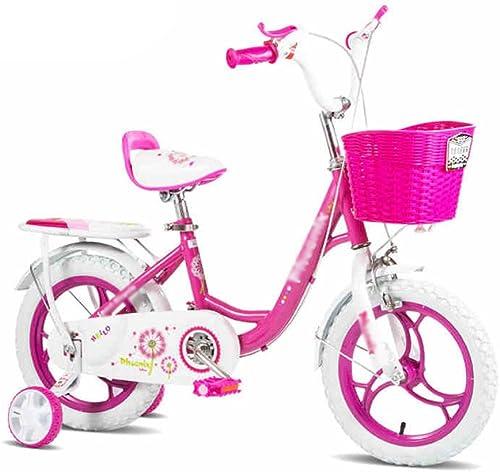 Kinderfürr r HAIZHEN Kinderwagen 2-3-6 Jahre alt mädchen Baby fürrad 12-14-16 Zoll Kinderwagen fürrad Für Neugeborene (Farbe   Rosa, Größe   12 inch)