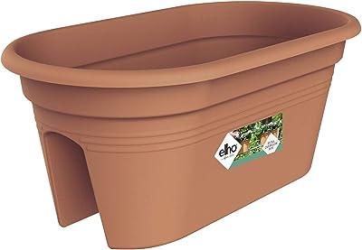 Exaco Trading Company BPC-Terra Bridge Planter with Cover, Light Terracotta