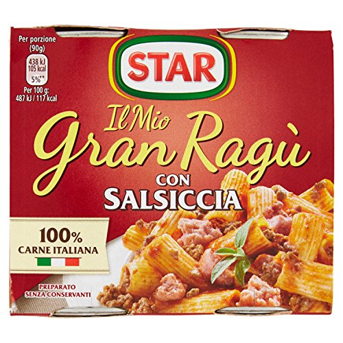 Star Gran Ragù Salsiccia, 2 x 90g
