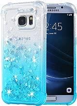 Galaxy S7 Case, Flocute Galaxy S7 Glitter Case Gradient Series Bling Sparkle Floating Liquid Soft TPU Cushion Luxury Fashion Girly Women Cute Case for Samsung Galaxy S7 (Gradient Teal)