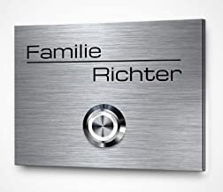 CHRISCK design - Gegraveerde roestvrijstalen deurbel met gravure | Belborden in verschillende maten vanaf 9 x 7 cm | Premi...