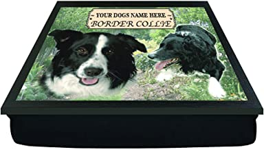 2 Lap Tray Padded Meal Table Laptop Desk Border Collie Dog