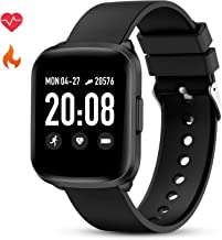 GOKOO Smart Watch for Men Women Fitness Tracker with All-Day Heart Rate Monitor Waterproof IP68 Sleep Monitor Pedometer Step Calorie Kilometer Music Camera Remote Full Touch Smartwatch (Black)