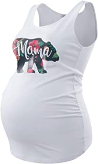 Maternity Tank Tops Sleeveless Ruched Basic Tops...