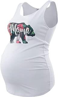 Maternity Tank Tops Sleeveless Ruched Basic Tops Maternity Shirt Vest Mama Clothes