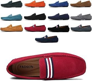 AARDIMI Mocassins en Daim Hommes Penny Loafers Casual Bateau Chaussures de Ville Flats 38-49
