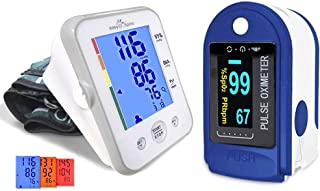 Easy@Home Upper Arm Blood Pressure Monitor and Fingertip Pulse Oximeter