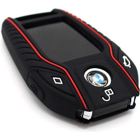 Schlüssel Hülle Bf Für 3 Tasten Auto Schlüssel Silikon Cover Von Finest Folia Schwarz Rot Auto