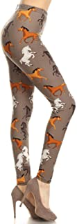 Leggings Depot Women's Ultra Soft Printed Fashion Leggings BAT4