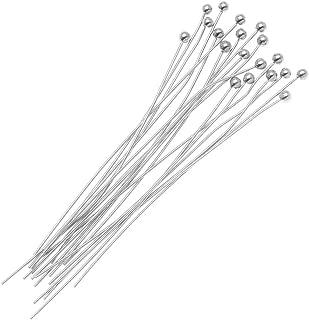 Beadaholique B22/300S 20-Piece Ball Head Pins, 22-Gauge, 3-Inch, Silver