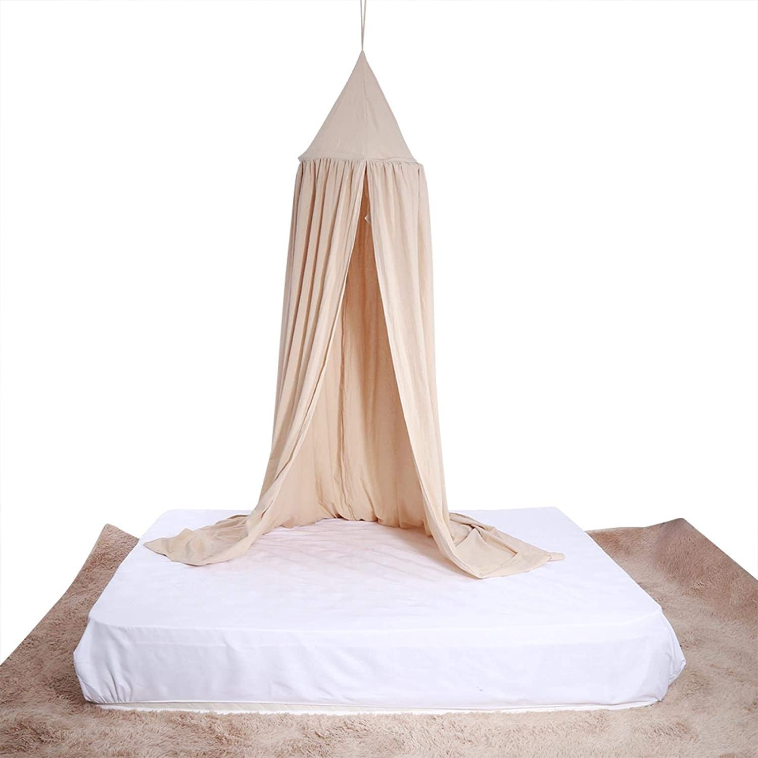Kid's Dome Bed Canopy, Kids Baby Bed Round Dome, Bed Canopy Dome Hanging Bed Canopy Mosquito Net Curtain Canopy Children's Indoor Outdoor Castle Play Tent for Baby Kid Reading Playing(04)