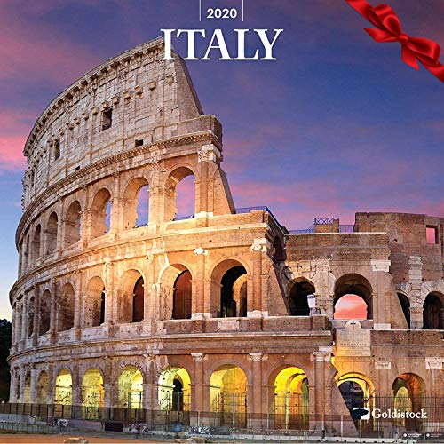 "Goldistock 2020 Large Wall Calendar -""Italy"" - 12"" x 24"" (Open) - Thick & Sturdy Paper - Great Gift Idea - Discover The Country of Sweeping Romance"