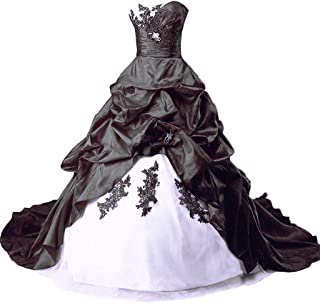 In schwarz weiß brautkleider Brautkleider in