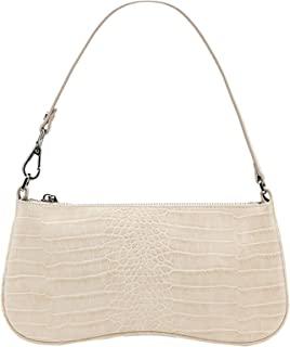 90s Shoulder Bag for Women Vegan Leather Crocodile Purse...