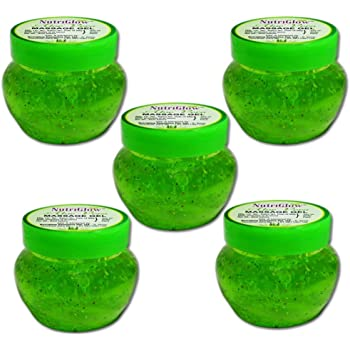 NutriGlow Aloe Vera Moisturizing Massage Gel /each 100 gm/ Pack of 5 / face moisturizer / alovera for face and hair