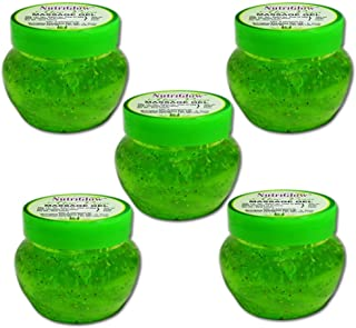 NutriGlow Aloe Vera Moisturizing Massage Gel /each 100 gm/ Pack of 5 / face moisturizer / alovera for face and hair
