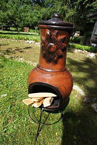 Antikas–Clay Oven Patio Stove Heavy Duty Chiminea–Girasol 90