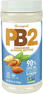 PB2 Powdered Almond Butter, 6.5oz Low-Fat Vegan Almond Powder, Low Carb Nut Butter, Non-GMO, Gluten Free, & Kosher