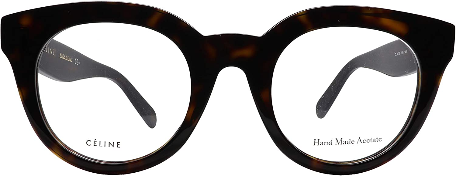 Celine CL 41363 Clara 086 Eyeglasses in Tortoise Size 47mm