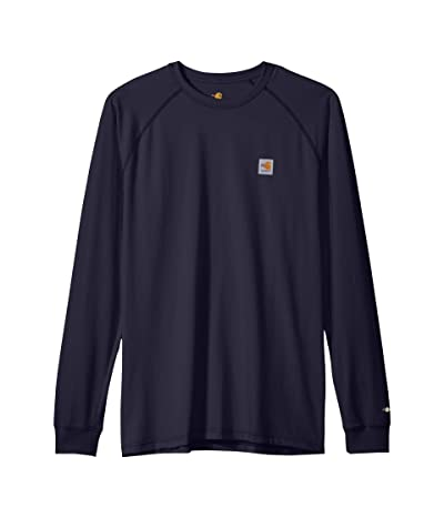 Carhartt Big Tall Flame-Resistant Force Long Sleeve T-Shirt (Dark Navy) Men