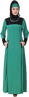 Rihab Bottle Green Crepe Islamic Maxi Long Gown Abaya AY-435