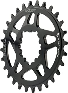 Wolf Tooth Components Elliptical Drop-Stop Chainring: 28T, SRAM Direct Mount, 3mm Offset, For Boost Chainline, Elliptical