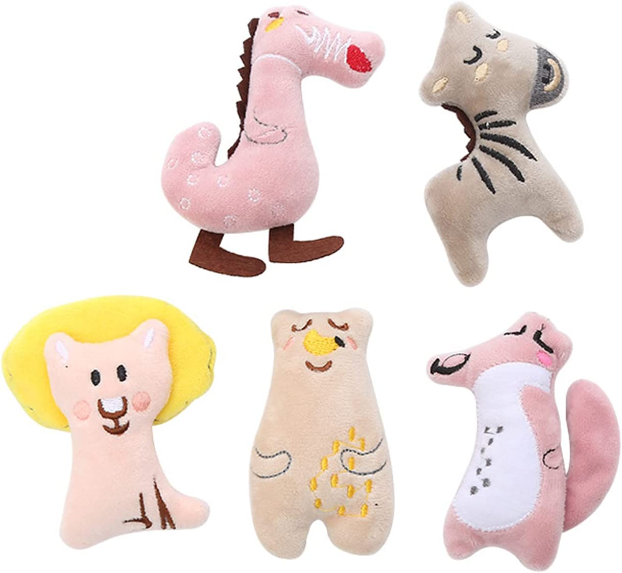 Jinyank Cat Catnip Manufacturer regenerated product Toy 5pcs Shape Latest item Pillow Cartoon Animal