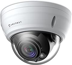 Amcrest UltraHD 2688P 1520TVL Varifocal PoE Dome Outdoor Security Camera, 4MP 2688x1520, 65ft Night Vision, Motorized Varifocal Lens 55°-104°, 3x Optical Zoom, White (IP4M-1056EW)