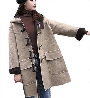 Plaid woolen coat Lapel loose plush ladies jacket Long sleeve casual warm windbreaker female (Color : Oatmeal, Size : XXL)