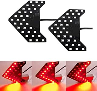 iJDMTOY Pair Dynamic Sequential 3-Step Flash 33-SMD LED Circuit Board Panels For Behind The Side Mirror Turn Signal Retrof...