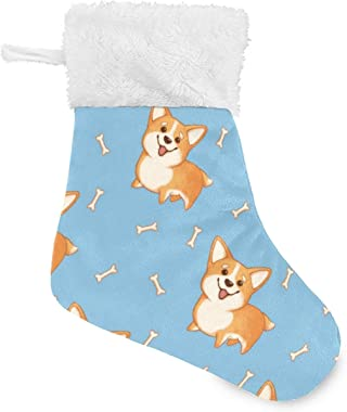 Blueangle 4 Pieces Cute Puppy and Bones Christmas Stockings, Little Christmas Stockings Gift and Treat Bags Christmas Hanging
