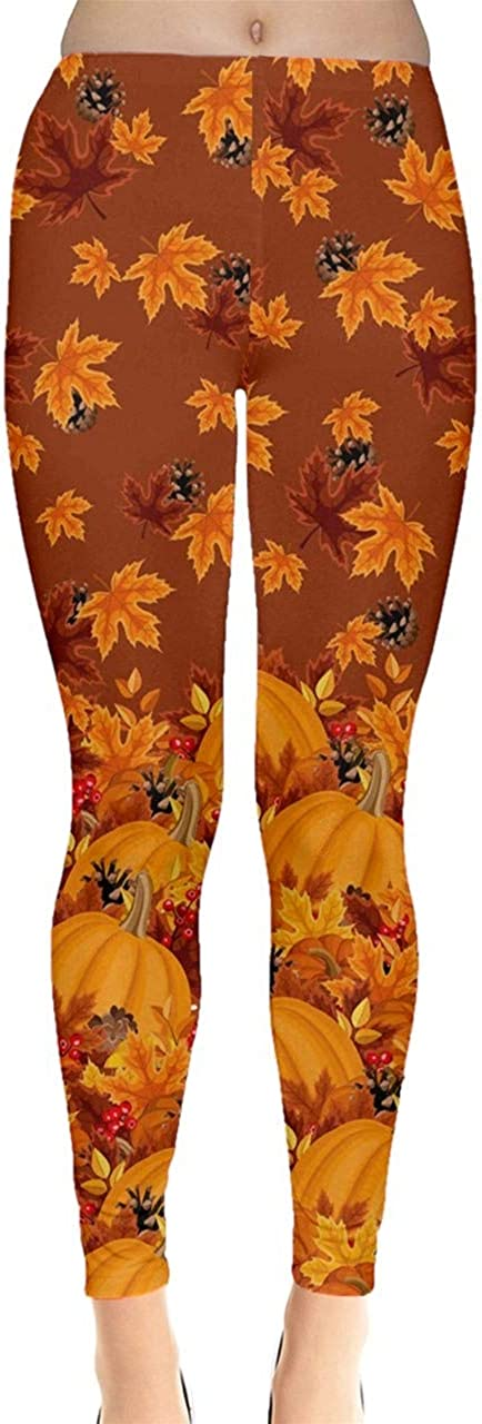 CowCow Womens Pattern trust Fallen Autumn Leaves Leggings Shades Warm Max 47% OFF