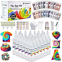Large Tie Dye Kit for Kids and Adults - 239 Pack Permanent Tie Dye Kits for Clothing Craft Fabric Textile Party Group Handmade Project (Dye up to 60 Medium Adults T-Shirts!)