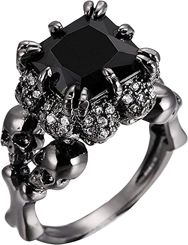wholesale Ranking TOP5 Siqqal Vintage Punk Ring Zirconia Engagement Retro Band Wedding
