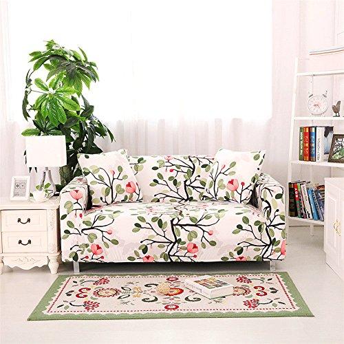 Getmorebeauty Fundas elásticas para sofá, tela, A4, 1 Seater / 90 - 125cm