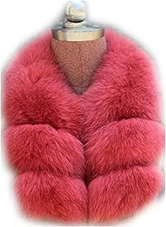 Gegefur Women's Real Fox Raccoon Fur Collar Scarf Wrap For winter