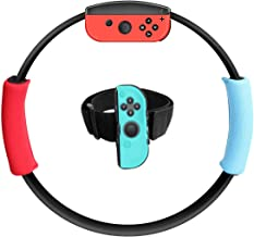 Ring con and Leg Strap for Ring Fit Adventure Nintendo Switch, New Fitness Ring-con and Adjustable Elastic Sport Leg Strap...