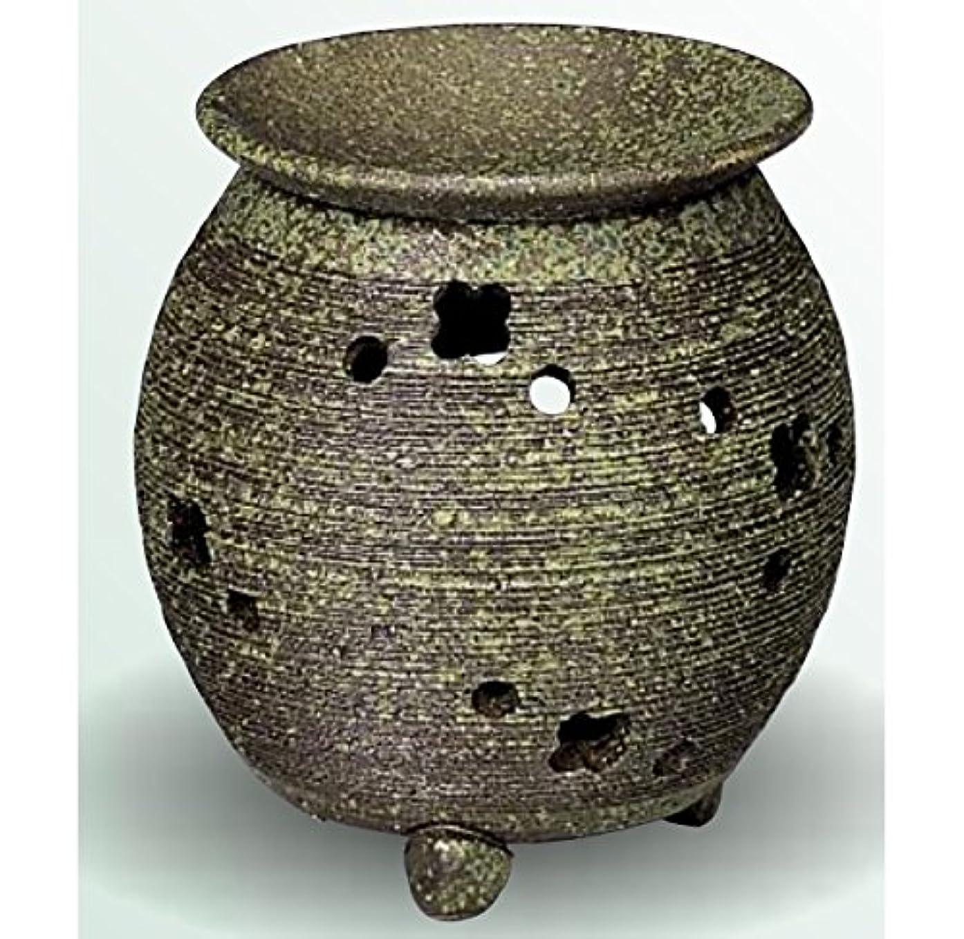ナインへ静かにコーナー常滑焼 茶香炉(アロマポット) 径10×高さ11.5cm