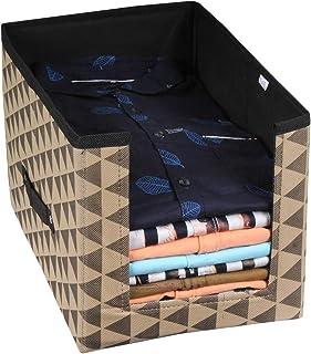 PrettyKrafts Shirt Stacker Closet Organizer - Shirts and Clothing Organizer - Trio Black Beige